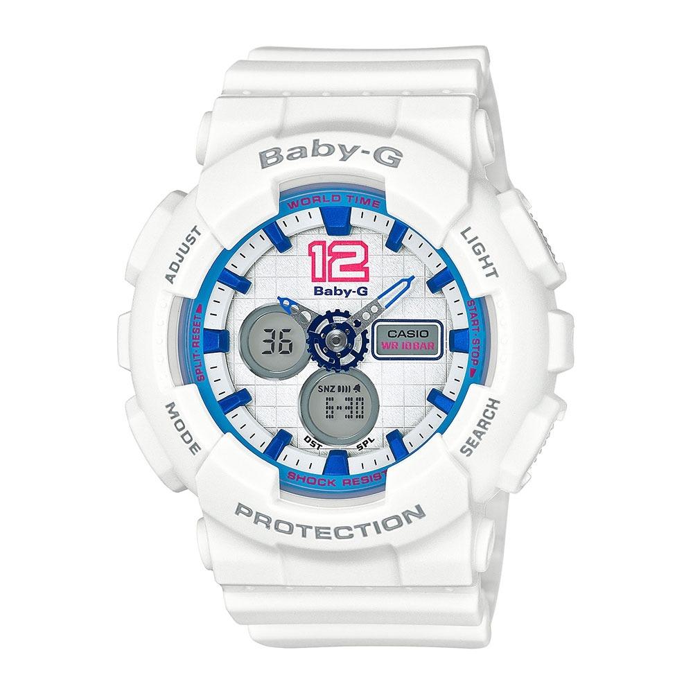 3a890fd2a63 relógio feminino casio baby-g analógico digital ba-120-7bdr. Carregando  zoom.