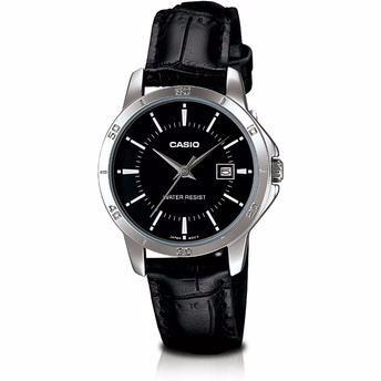 74521862de3 Relógio Feminino Casio Clássico Couro Preto Ltp-v004l-1audf - R  242 ...