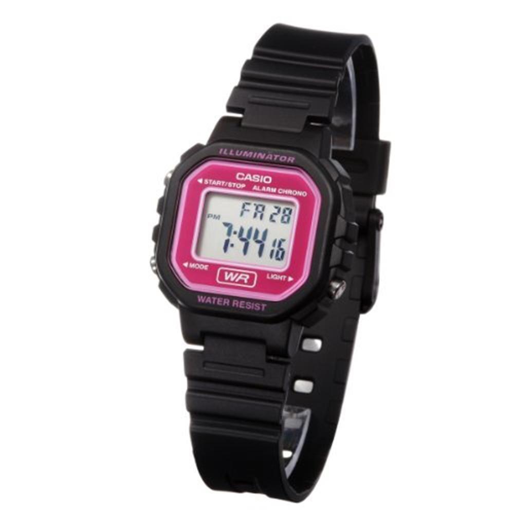 4bc3486b105 relógio feminino casio digital la-20wh-4adf preto lilás. Carregando zoom.