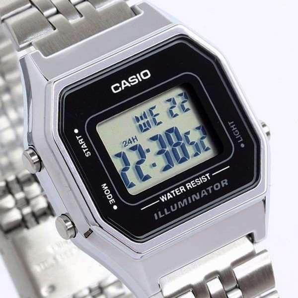 Relógio Feminino Casio Digital Prateado Vintage La680wa-1df - R  189 ... eaae6409ad