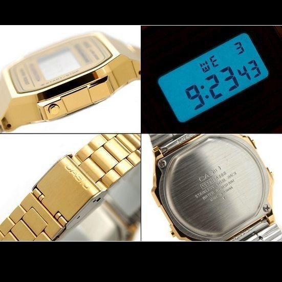 a499746c47e Relógio Feminino Casio Dourado Retrô A168wg Frete Gratis - R  275