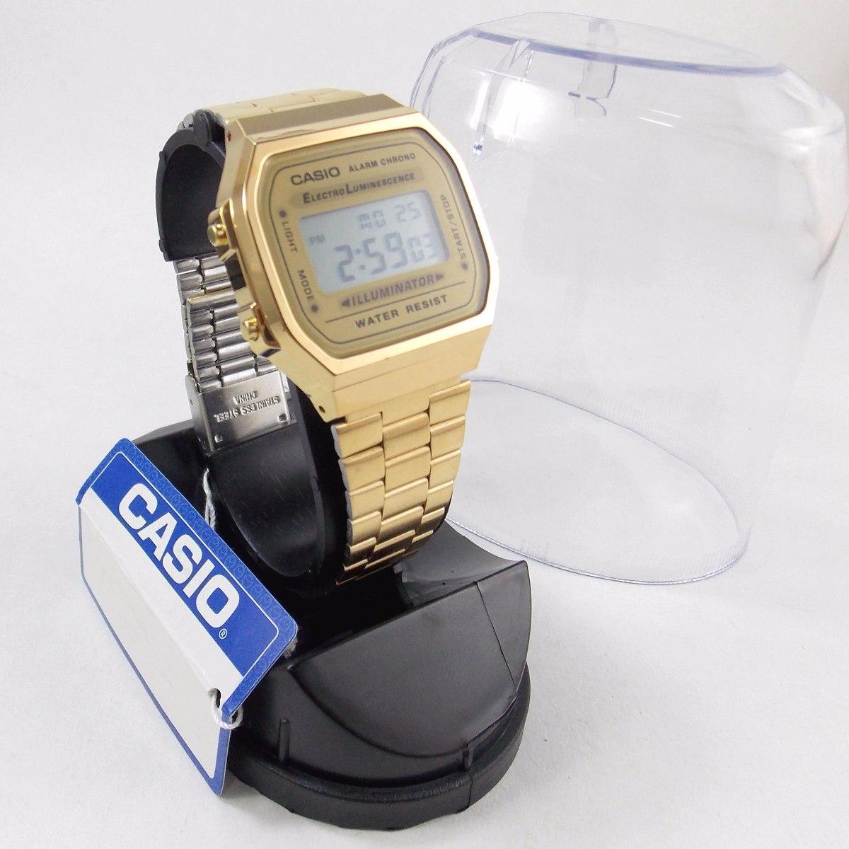 42e230e51d7 relógio feminino casio dourado retrô a168wg frete gratis. Carregando zoom.