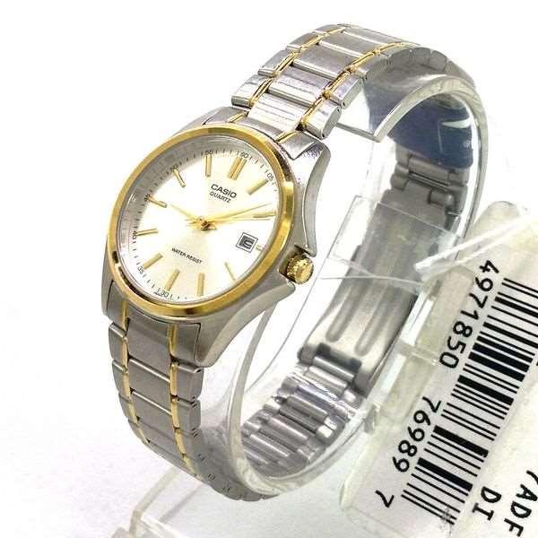 549413f9e43 Relógio Feminino Casio Ltp-1183g-7a Misto Prateado E Dourado - R ...