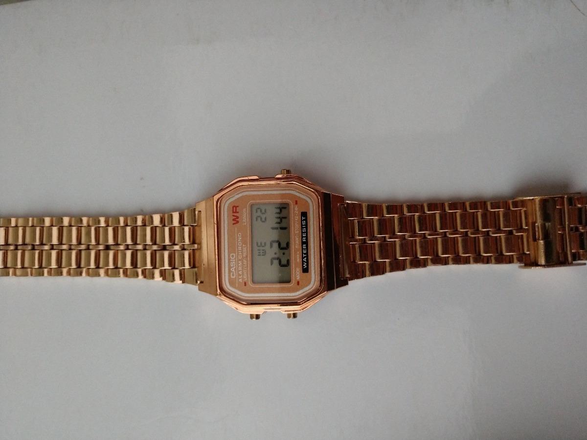 e212ffb986b relogio feminino casio vintage retro wg cor ouro. Carregando zoom.
