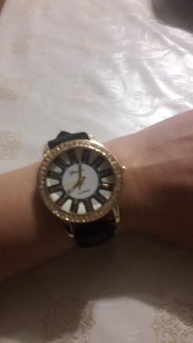 relógio feminino casual geneva pulseira de couro pu