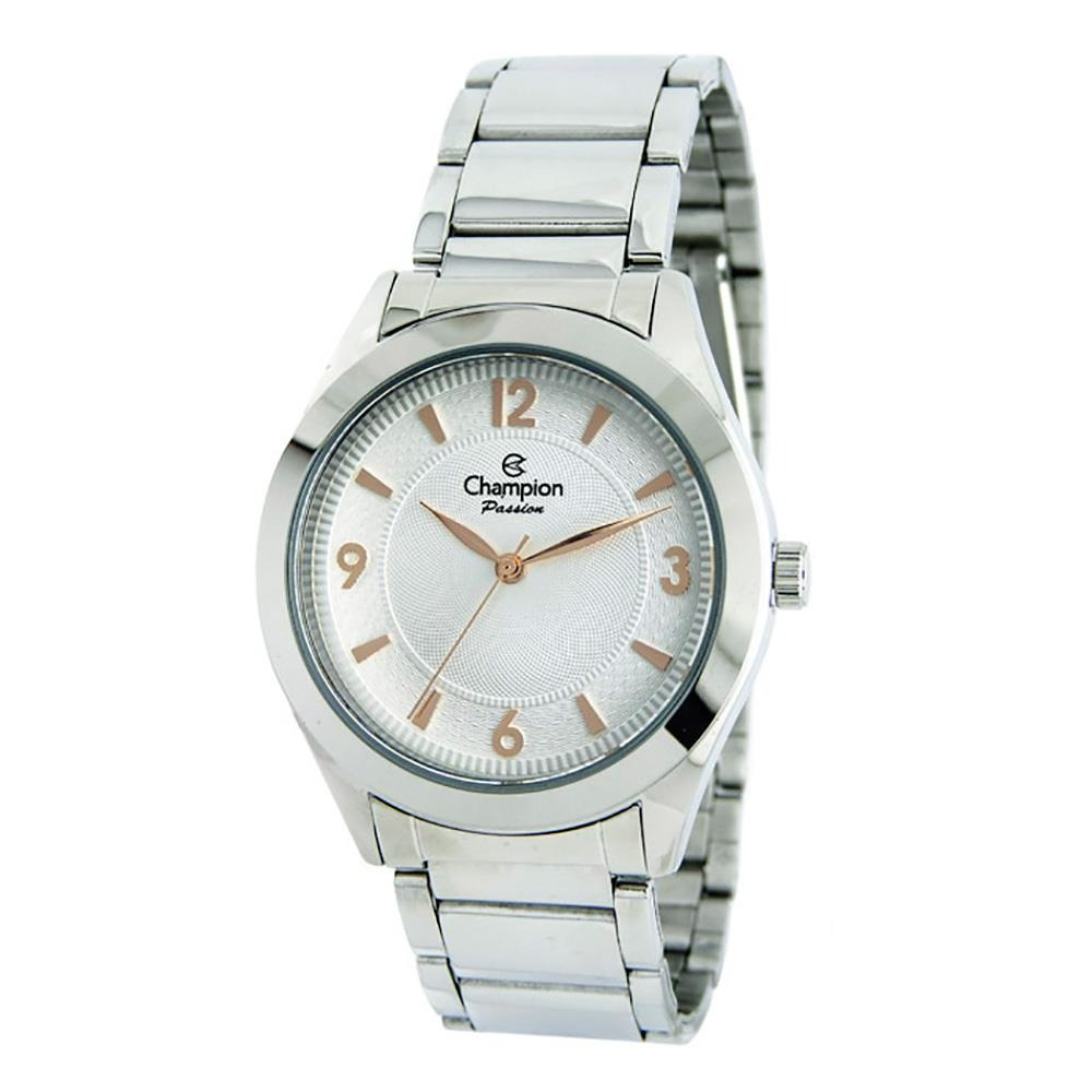 17bcda140bd Relógio Feminino Analógico Champion Cn28866n - Branco prata