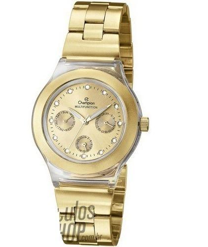 f8a4c8ca6b1 Relógio Feminino Champion Quartz Dourado Cp38077g - R  219