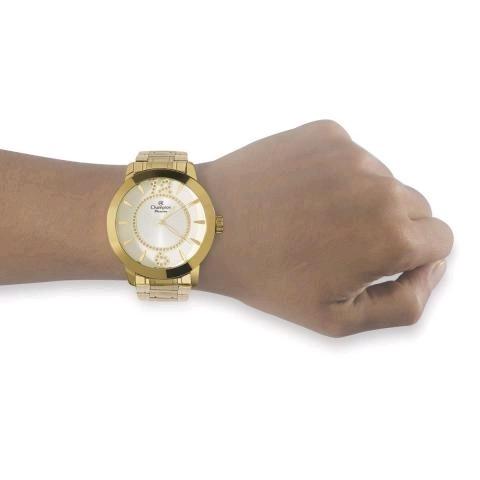 6e6d8c2f0e1 relógio feminino dourado champion original ch24259h · relógio feminino  champion