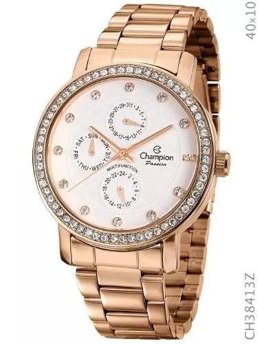 b0f55403675 Relógio Feminino Champion Passion Rose Ch38413z Original - R  216