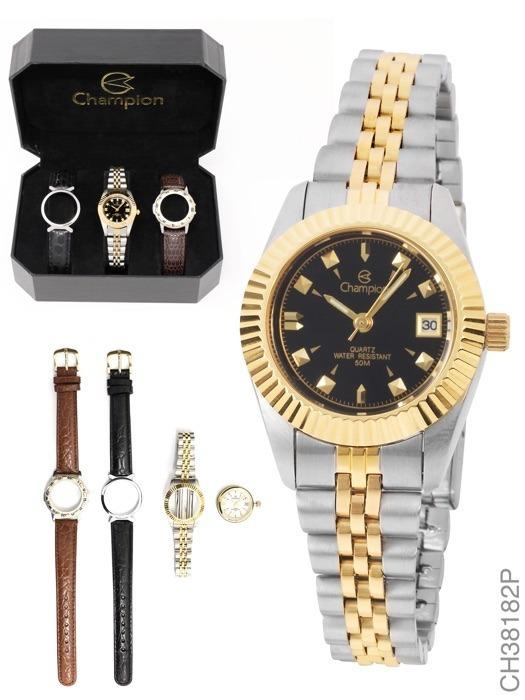 cdf01322752 Relógio Feminino Champion Analógico Fashion Ch38182p - R  279 ...