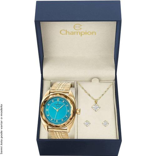 relógio feminino champion analógico fashion cn27858y à vista
