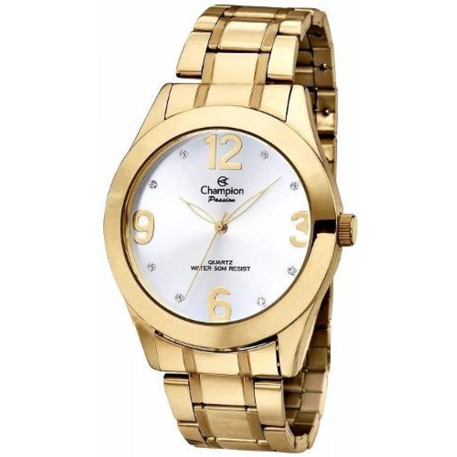 4e50329ebb0 relógio feminino champion banhado a ouro medida 4.0 oferta. Carregando zoom.