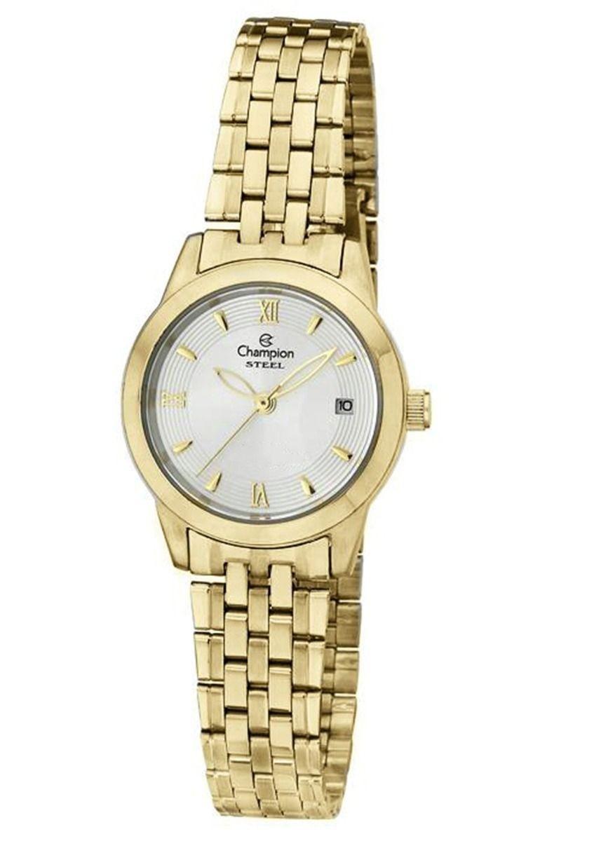 cba1cf59cfe relógio feminino champion dourado pequeno ca28832h em aço. Carregando zoom.