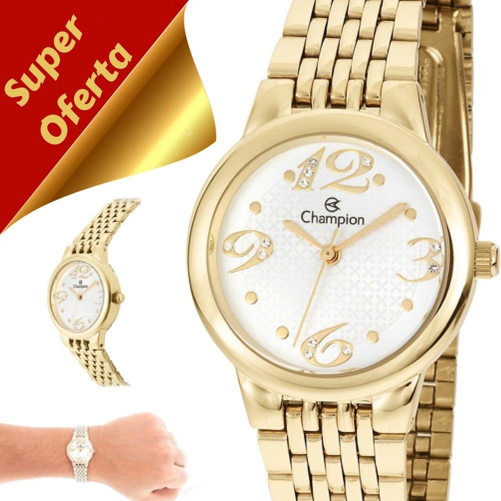 4d20d0b07e5 relógio feminino champion dourado pequeno original ch24919h. Carregando  zoom.