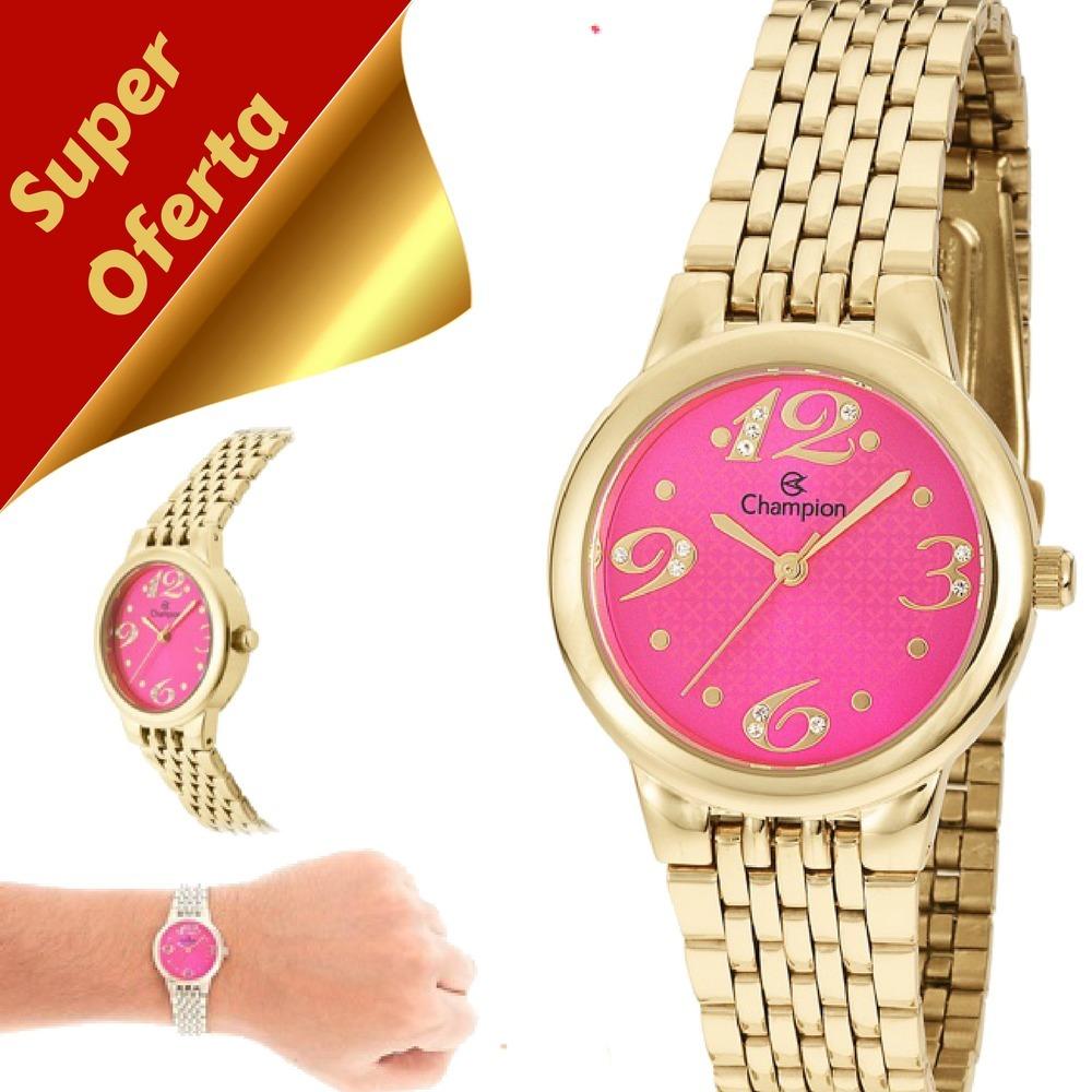 58e34daf62c relógio feminino champion dourado pequeno original ch24919l. Carregando  zoom.
