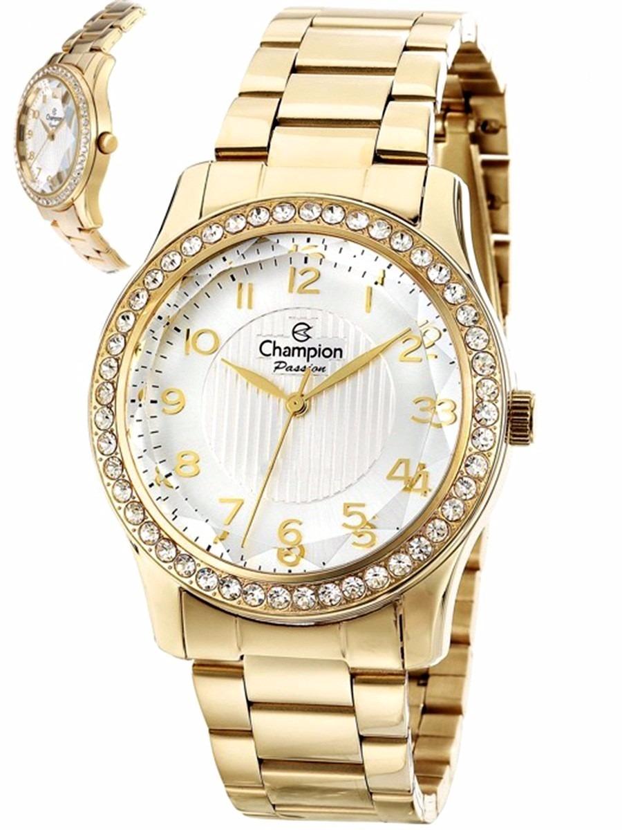 5332ecdfcee relógio feminino champion dourado wr 50 metros cn27205h  . Carregando zoom.