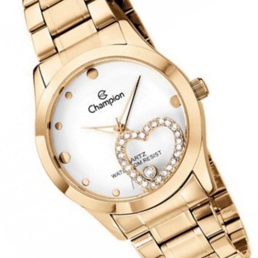 6ce219f3250 relógio feminino champion folheado coração fashion ch25883h. Carregando  zoom.