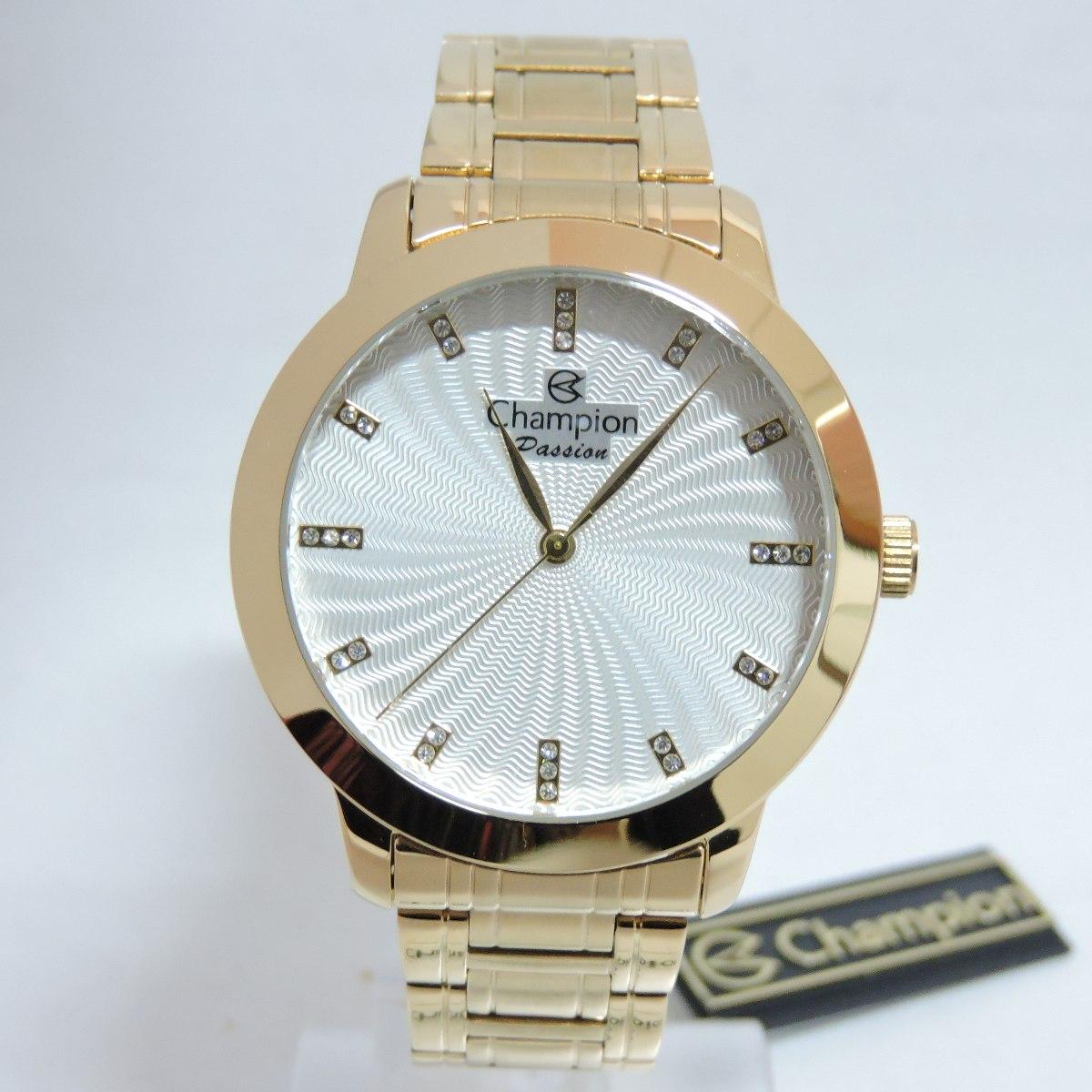 36d832e78c2 relógio feminino champion luxo original cn29276h dourado. Carregando zoom.