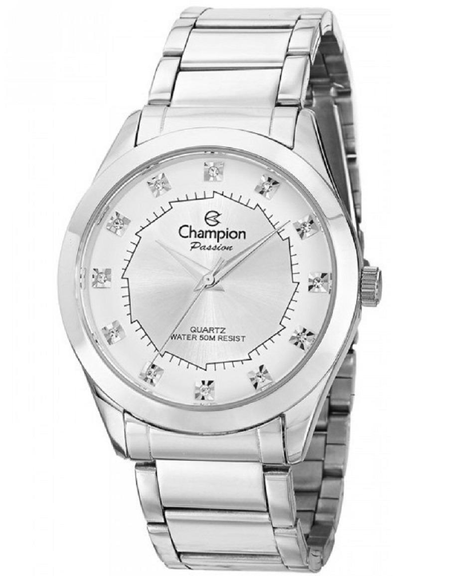 e795e71ba80 relógio feminino champion prata visor strass ch24759q. Carregando zoom.