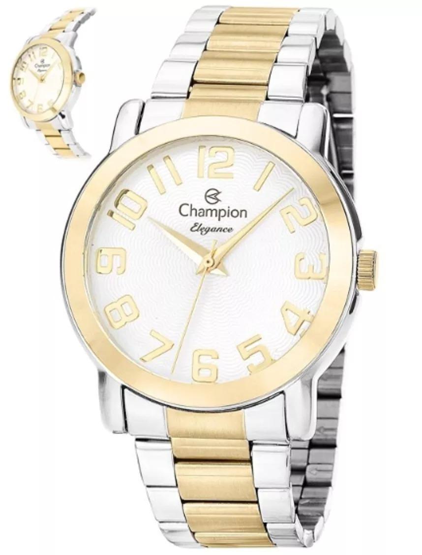 90ba6a651fb relógio feminino champion quartz ouro prata cn26144b. Carregando zoom.