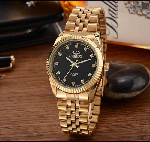 relógio feminino chenxi cx-004a pulseira de aço à prova d'água +brinde chave de ajustes de pulseira