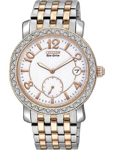 relógio feminino citizen eco-drive solar social tz28020k