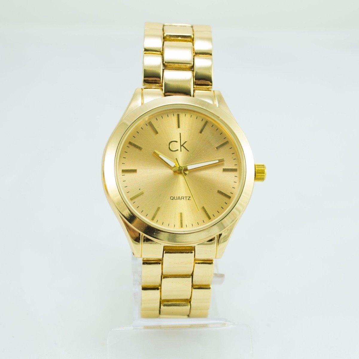 0916bc9c8a6 relógio feminino ck dourado luxo analógico rose preto +caixa. Carregando  zoom.