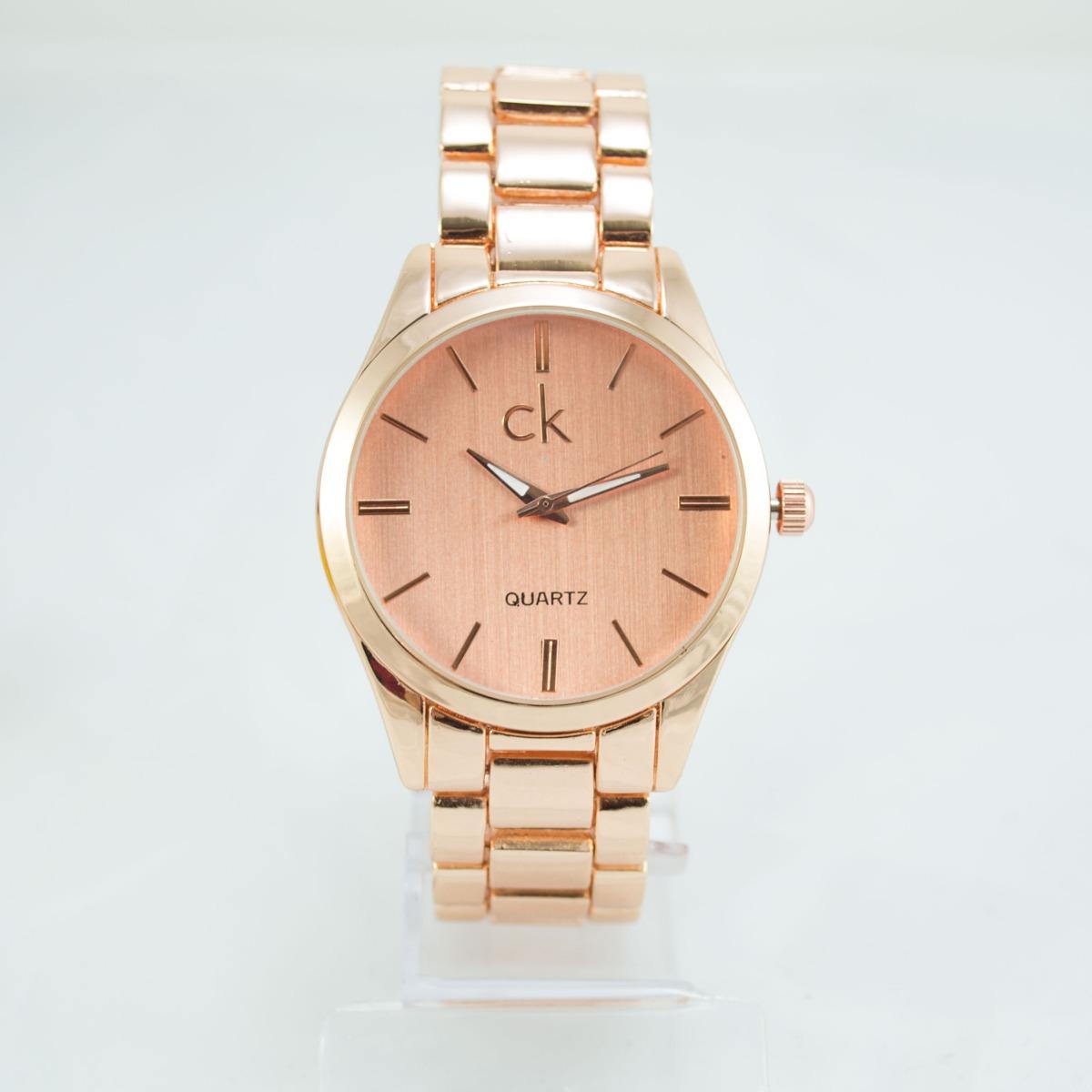 c45f818d0d9 relógio feminino ck dourado rose analogico novo + caixa. Carregando zoom.