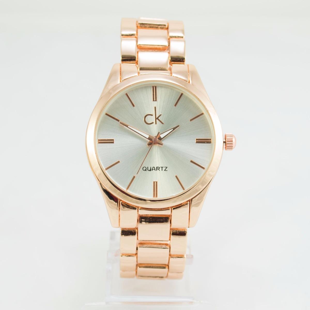 98938d964f3 relógio feminino ck luxo analógico dourado. Carregando zoom.