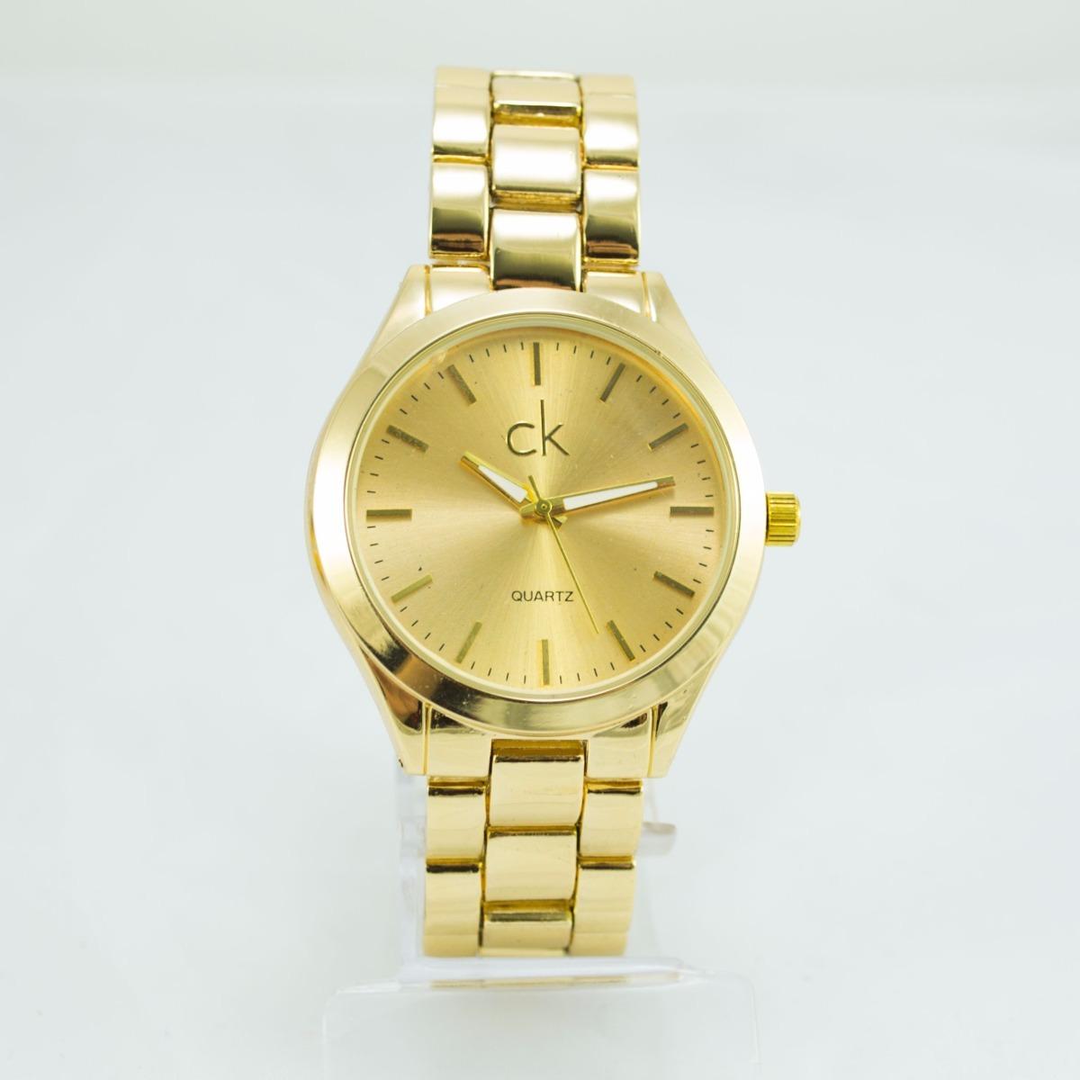 afb389ce2e2 relógio feminino ck luxo dourado analógico pronta entrega. Carregando zoom.