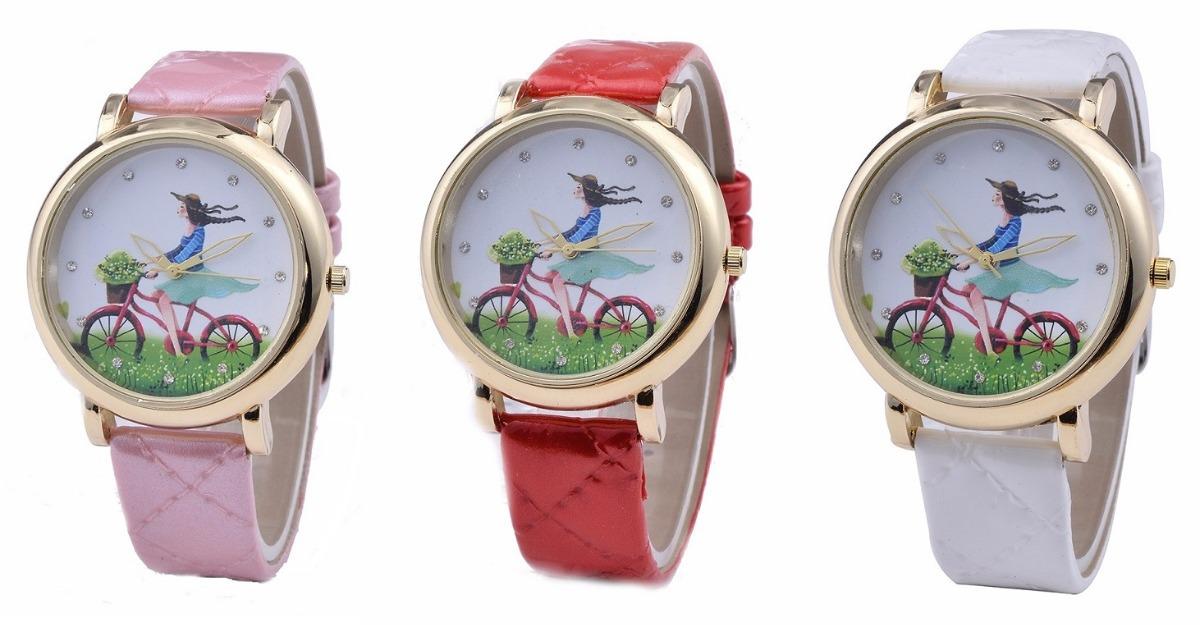 33567a5e49d relógio feminino com pulseira de couro estilo elefante. Carregando zoom.