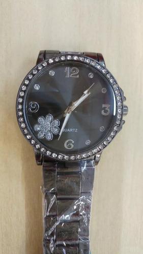 relógio feminino com strass