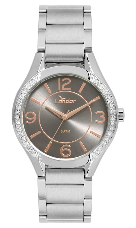 61e106ee375 Relógio Feminino Condor Analógico Co2035krf k3c Prata - R  189