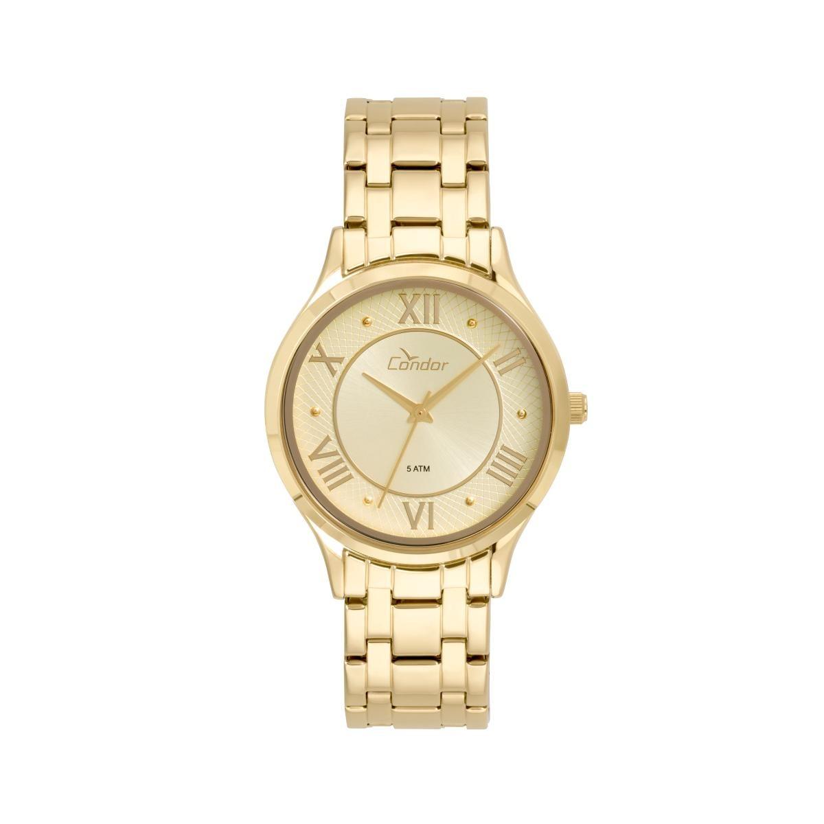 Relógio Feminino Condor Codu2036lst d Pulseira Aço Dourada - R  91 ... 1419427f68
