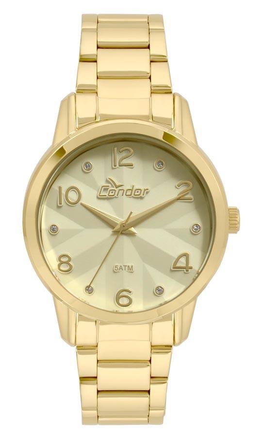 Relógio Feminino Condor Analógico Co2039aw k4d Ouro - R  179,00 em ... 9e233cffff