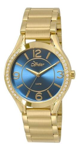 relógio feminino condor analógico dourado co2035krg/4a