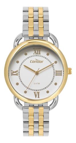 relógio feminino condor com colar e brincos co2035mpr
