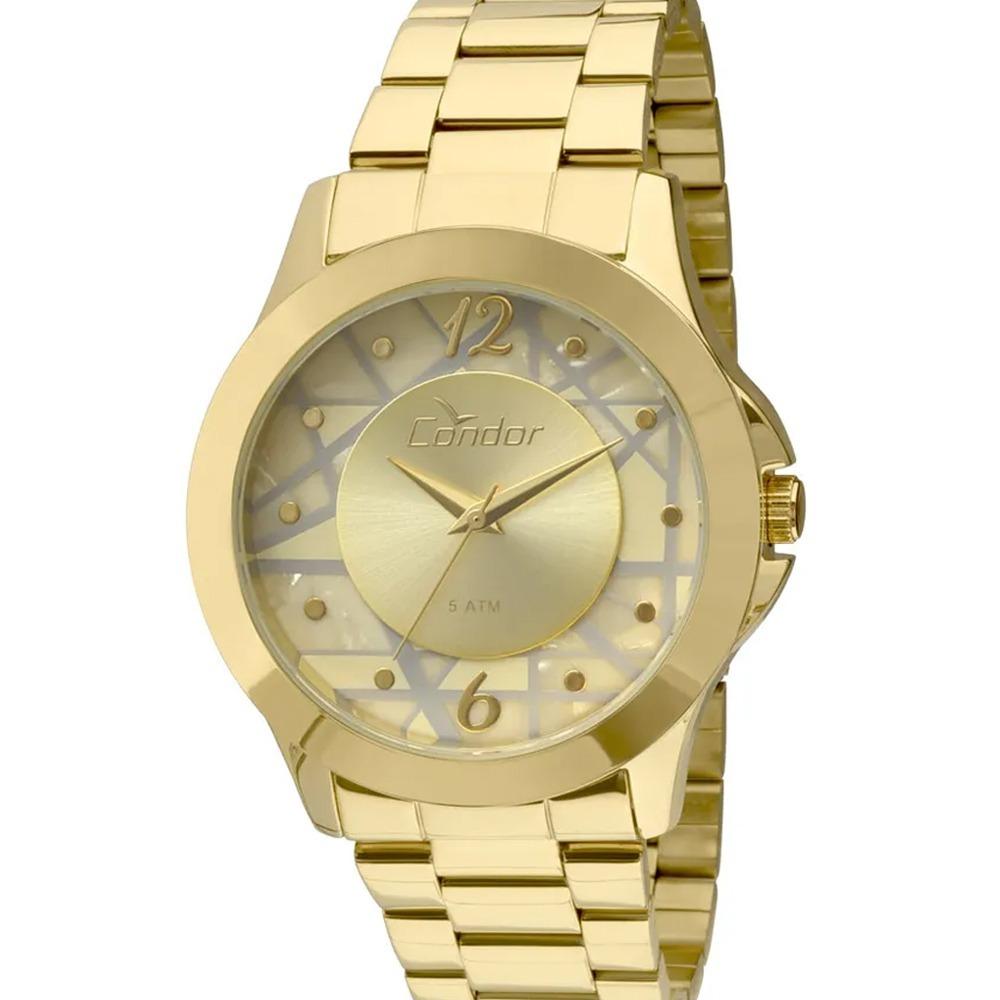 6d70055fd55 relógio feminino condor dourado 18k mosaico geométrico - nf. Carregando  zoom.