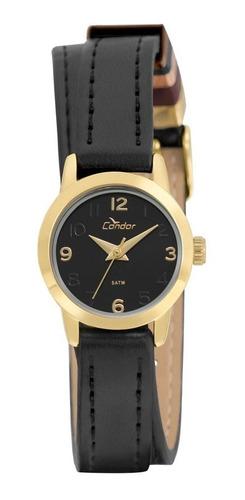 relógio feminino condor dourado co2035kxb/2p