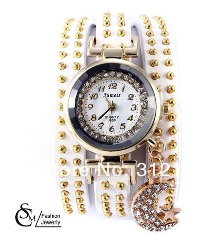 relógio feminino couro fashion importado pronta entrega