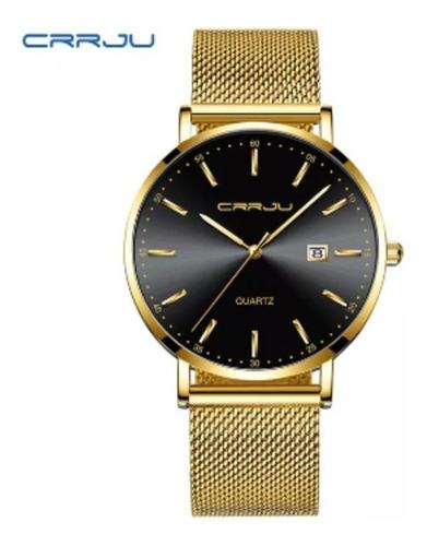 relógio feminino crju 2161 luxuoso resistente água