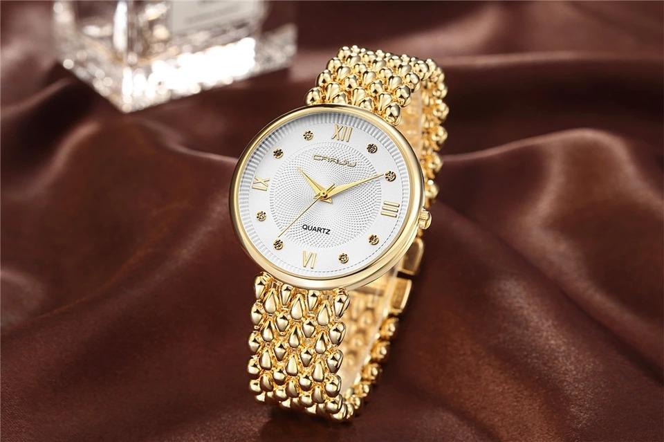 e0cac50a4e4 Relógio Feminino Crrju Original Caixinha De Brinde Promoção - R  146 ...