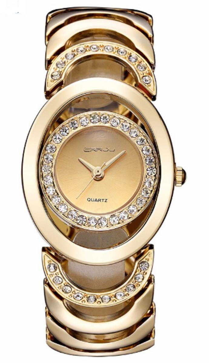 a5c6289ee74 relógio feminino crrju quartz prata ou dourado. Carregando zoom.