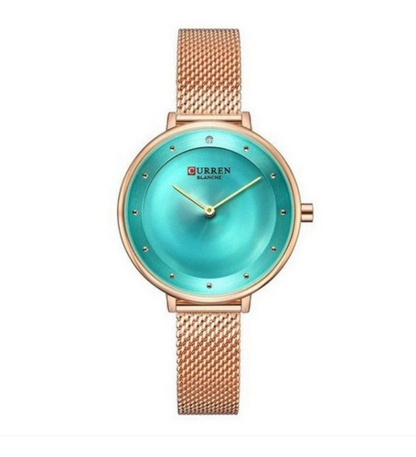 relógio feminino curren analógico c9029l cor rosê liquidação