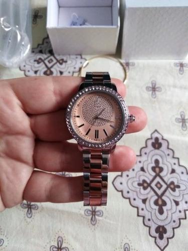 relógio feminino de cristal luxo duas cores disponíveis