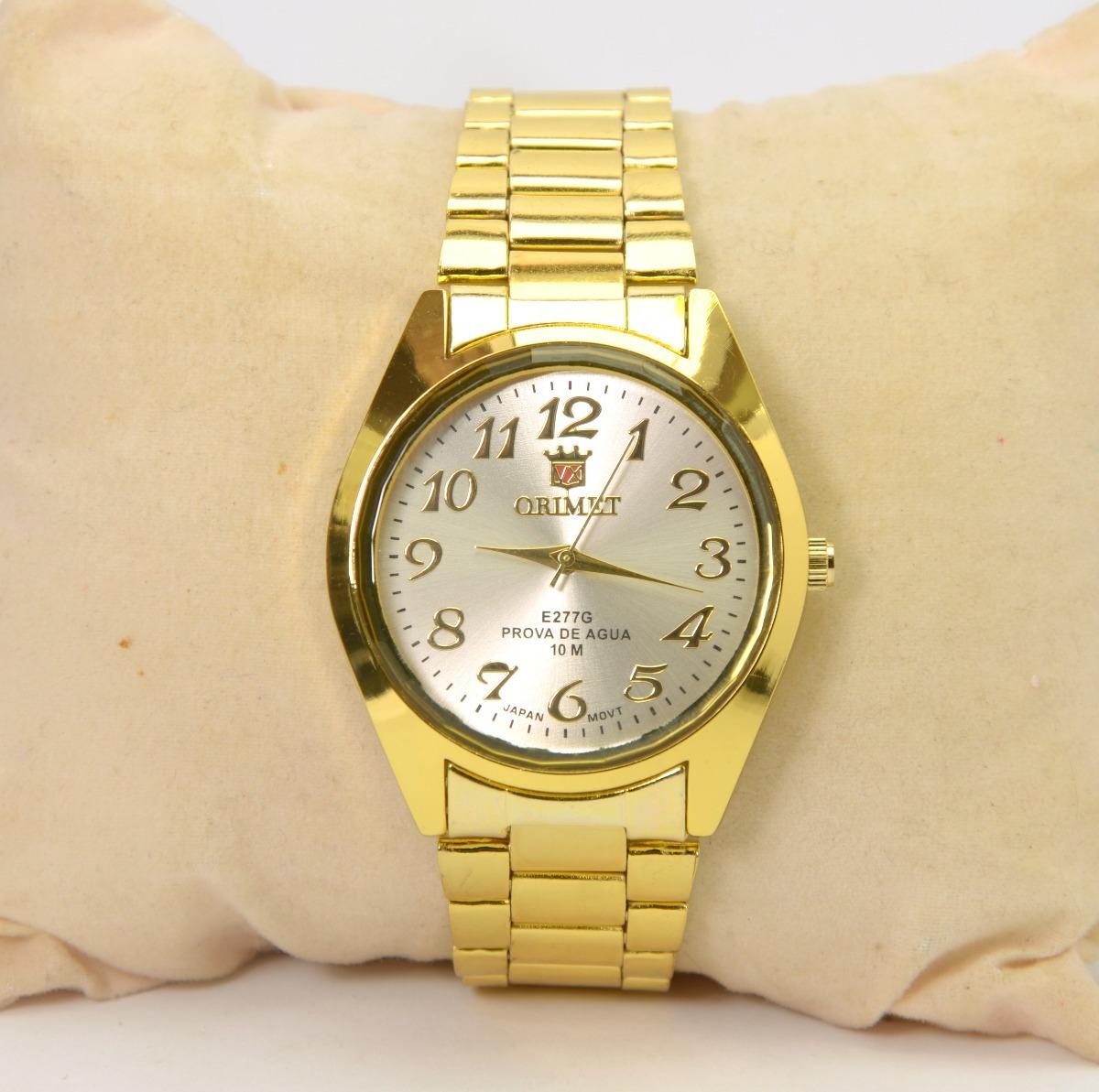 e7755256dee relógio feminino de pulso dourado orimet resistente barato. Carregando zoom.