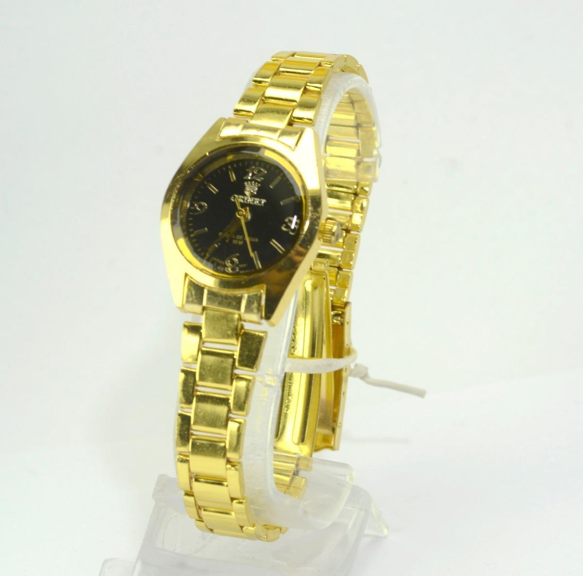 d3e55fbdffa relógio feminino de pulso dourado varias cor orinet pequeno. Carregando zoom .