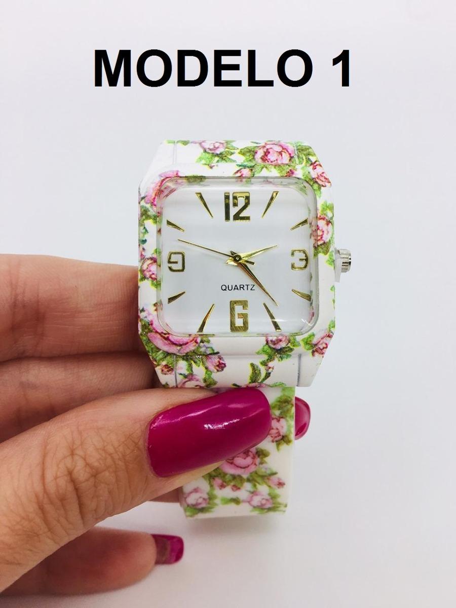 79372fc3d97 relógio feminino de pulso floral vários modelos + caixa. Carregando zoom.