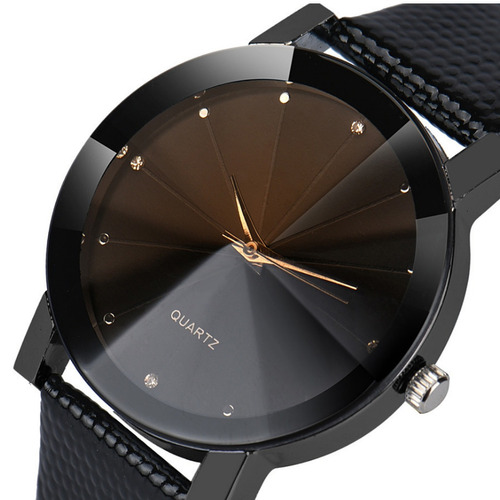 relógio feminino de pulso preto analógico