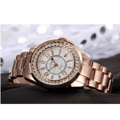 b4401437a47 Relógio Feminino De Pulso Sinobi Dourado ouro Aço Inoxidável - R ...